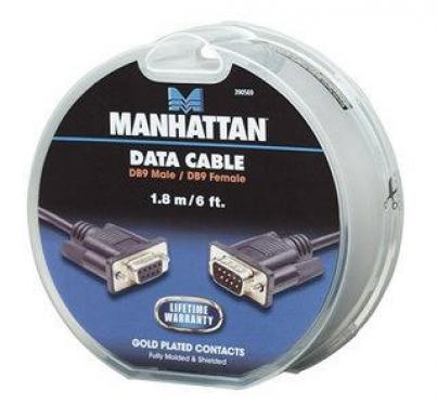 Manhattan Cable Serial DB9 - DB9, 1.8 Metros