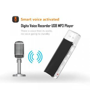 Digital Voice Recorder USB Mini 8GB Rechargeable with MP3