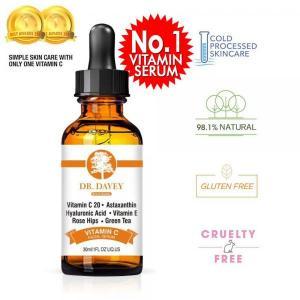 DR.DAVEY Vitamin C 20 Astaxanthin Hyaluronic Acid Vitamin E Rose Hips Green Tea Facial Serum