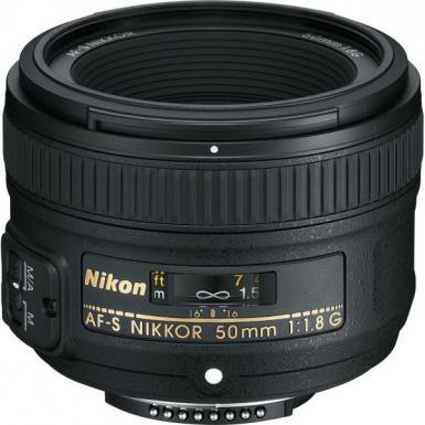 Nikon 50mm f/1.8G AF-S Nikkor FX Fixed Focus Prime Lens