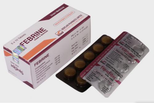 FEBRINE Tablet Unani Medichine - তীব্র জ্বর ও ব্যথার জন্য