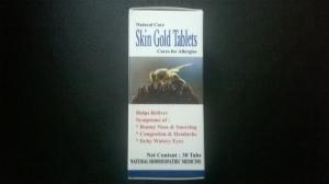 Skin Gold 30 Tabs - নাকের এলার্জি ও চোখ চুলকানি নি