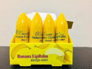 Banana Lip Balm and Lipstick for Pinkish Lips 12 pcs