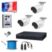 3 SET HD CAMERA FULL PACKAGE + FREE MONITOR + FREE SETUP