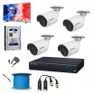 4 SET HD CAMERA FULL PACKAGE + FREE MONITOR + FREE SETUP