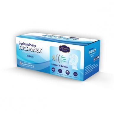 Bashundhara 3 Ply Surgical Pack of 50 Pcs
