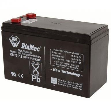 Diamec 12V 7.5 Amp DC Current UPS Battery